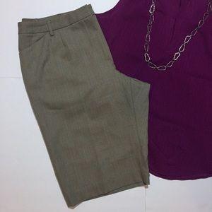 Rafaela Woman Plaid Walking Shorts Plus Size 16 W